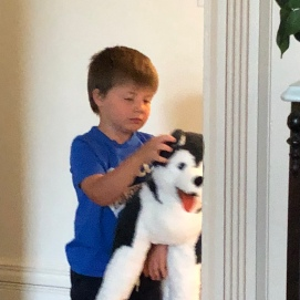 Graham can't wait to see his Husky!